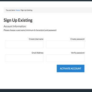 Create Password eStorefront